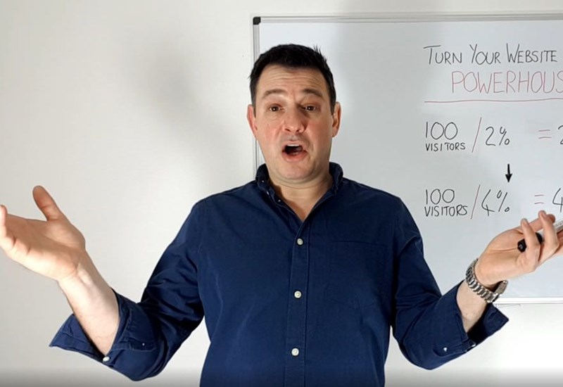Presenting on a whiteboard